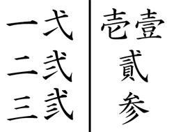 「一」「二」「三」のたすきは旧字ではありません